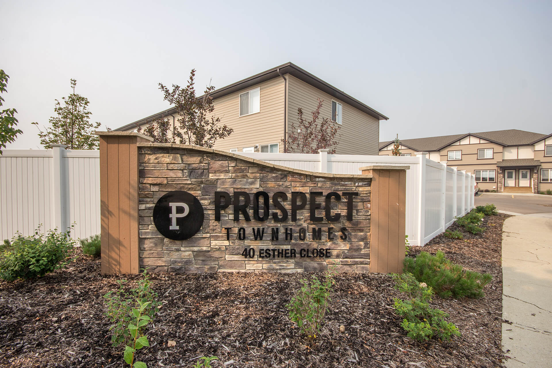 Image of the exterior of Prospect Townhomes